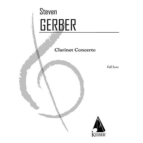 Lauren Keiser Music Publishing Clarinet Concerto LKM Music Series Composed by Steven Gerber