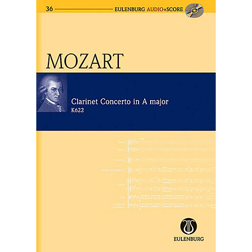 Eulenburg Clarinet Concerto in A Major KV 622 Eulenberg Audio plus Score Series Composed by Wolfgang Amadeus Mozart-thumbnail