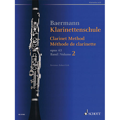 Schott Clarinet Method, Op. 63 (Volume 2, Nos. 34-52 - Revised Edition) Woodwind Method Series Softcover-thumbnail