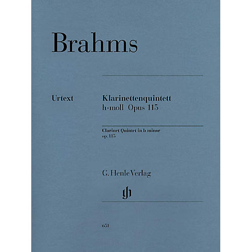 G. Henle Verlag Clarinet Quintet B minor Op. 115 Henle Music Folios Series Softcover by Johannes Brahms-thumbnail