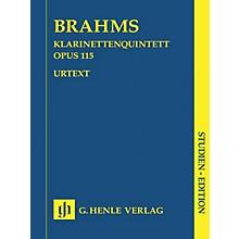 G. Henle Verlag Clarinet Quintet B minor Op. 115 (Study Score) Henle Study Scores Series Softcover by Johannes Brahms