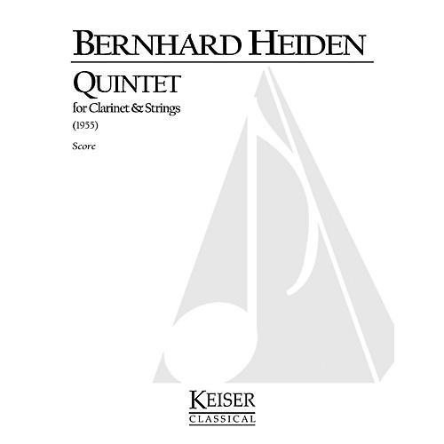 Lauren Keiser Music Publishing Clarinet Quintet LKM Music Series Composed by Bernhard Heiden-thumbnail