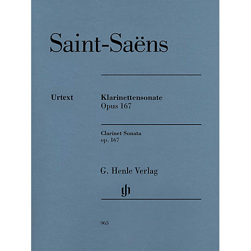 G. Henle Verlag Clarinet Sonata, Op. 167 Henle Music Folios Softcover Composed by Saint-Saëns Edited by Peter Jost-thumbnail