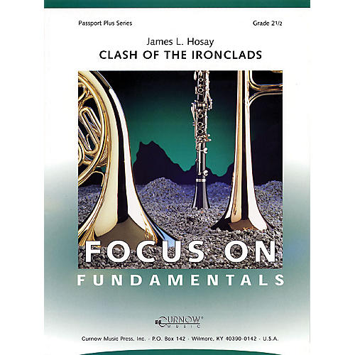 Curnow Music Clash of the Ironclads (Grade 2.5 - Score Only) Concert Band Level 2.5 Composed by James L Hosay-thumbnail