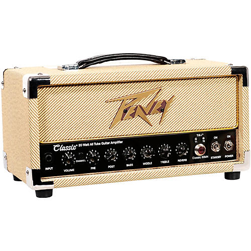 Peavey Classic 20 Micro 20W Tube Guitar Amp Head with 2x12 Guitar ...