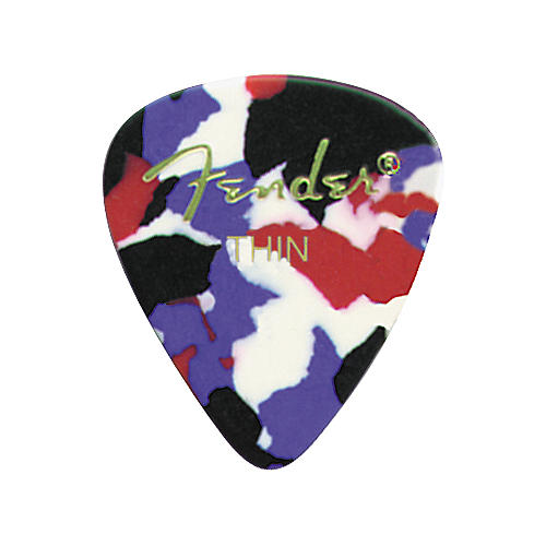 Fender Classic Celluloid Confetti Guitar Pick 12-Pack