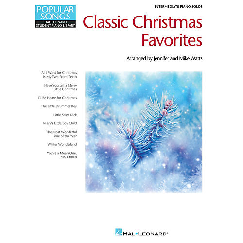 Hal Leonard Classic Christmas Favorites Piano Library Series Book (Level Inter)
