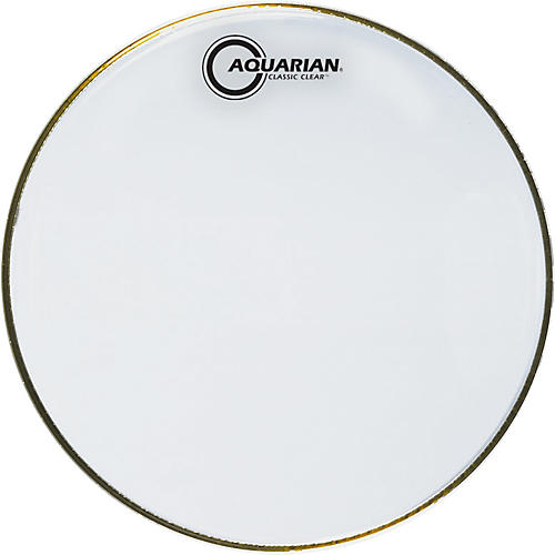 Aquarian Classic Clear Drumhead Black 12 in.