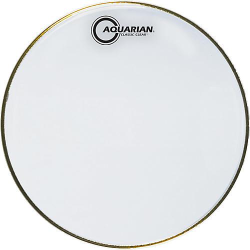 Aquarian Classic Clear Drumhead Black 16 in.