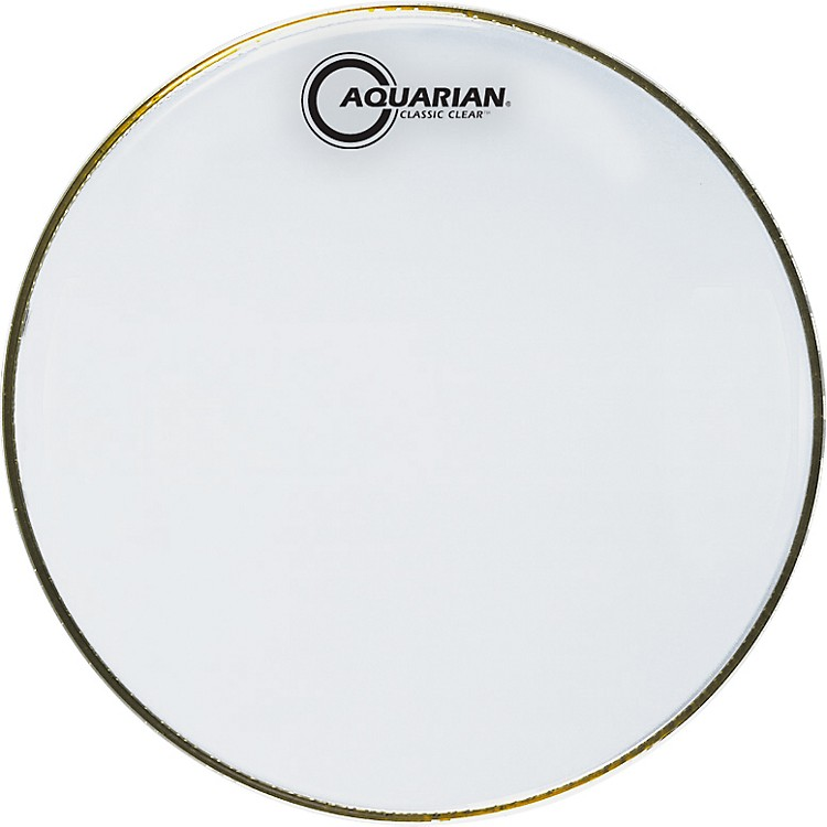 Aquarian Classic Clear Drumhead Black 18 Inches