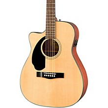 Fender Classic Design Series CC-60SCE Cutaway Concert Left-Handed Acoustic-Electric Guitar