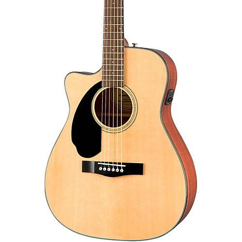 Fender Classic Design Series CC-60SCE Cutaway Concert Left-Handed Acoustic-Electric Guitar-thumbnail