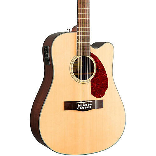 Fender Classic Design Series CD-140SCE Mahogany Cutaway Dreadnought 12-String Acoustic-Electric Guitar-thumbnail