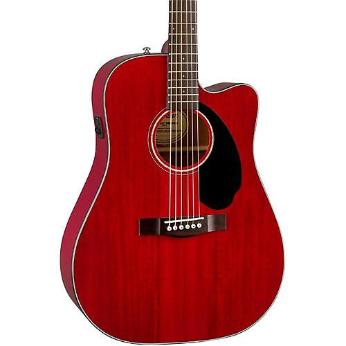 Fender Classic Design Series CD-60SCE All-Mahogany Cutaway Dreadnought Acoustic-Electric Guitar-thumbnail