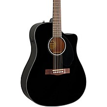 Fender Classic Design Series CD-60SCE Cutaway Dreadnought Acoustic-Electric Guitar Black