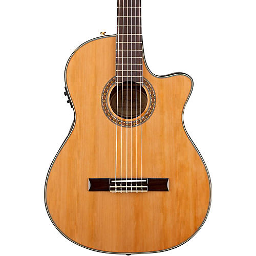 Fender Classic Design Series CN-240SCE Cutaway Thinline Classical Acoustic-Electric Guitar-thumbnail