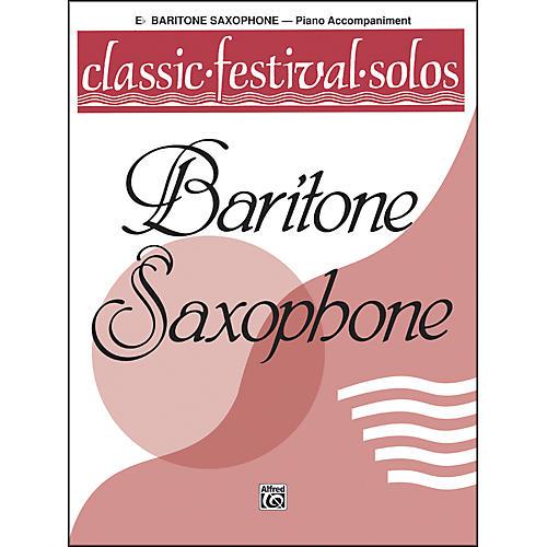 Alfred Classic Festival Solos (E-Flat Baritone Saxophone) Volume 1 Piano Acc.