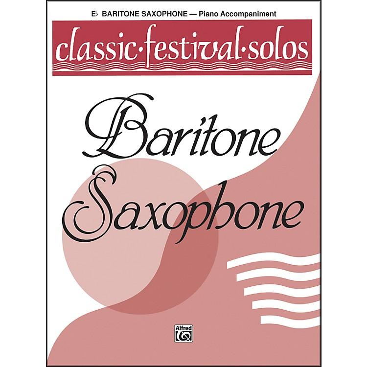 AlfredClassic Festival Solos (E-Flat Baritone Saxophone) Volume 1 Piano Acc.