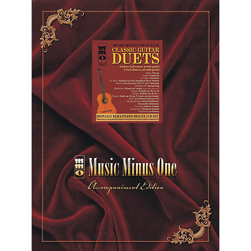 Music Minus One Classic Guitar Duets (Deluxe 2-CD Set) Music Minus One Series Softcover with CD-thumbnail