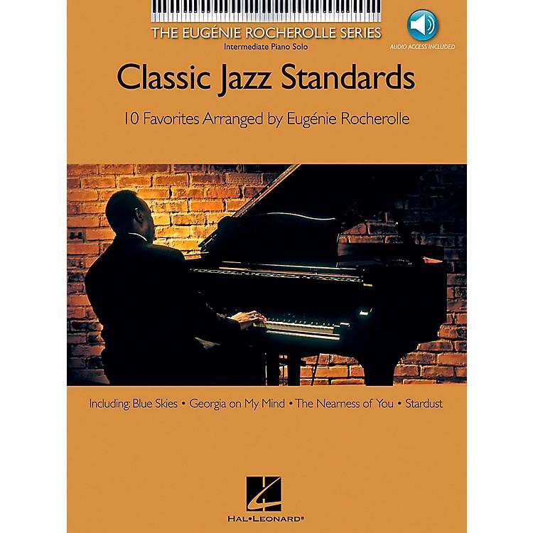 Hal LeonardClassic Jazz Standards Book/CD Eugenie Rocherolle Series - Intermediate Piano Solo