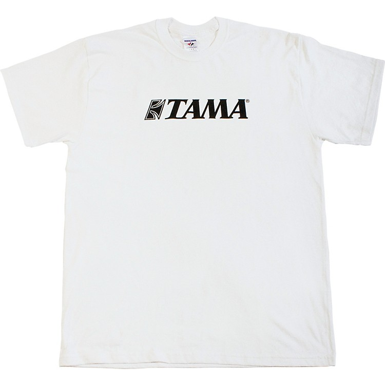 Tama Classic Logo T-Shirt White Medium