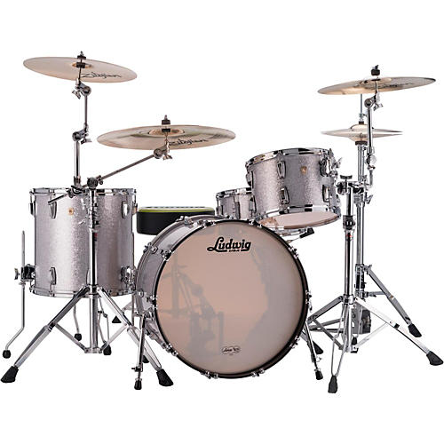 Ludwig Classic Maple 3-Piece Shell Pack Silver Sparkle