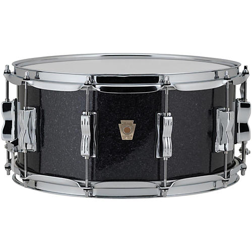 Ludwig Classic Maple Snare Drum 14 x 6.5 in. Black Sparkle