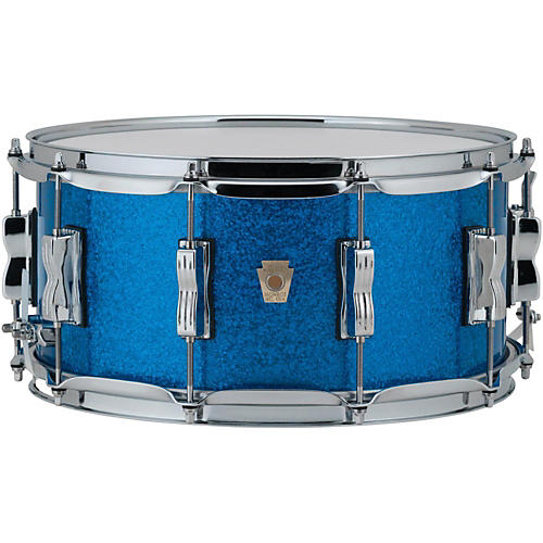 ludwig classic maple snare drum 14 x 6 5 in blue sparkle musician 39 s friend. Black Bedroom Furniture Sets. Home Design Ideas