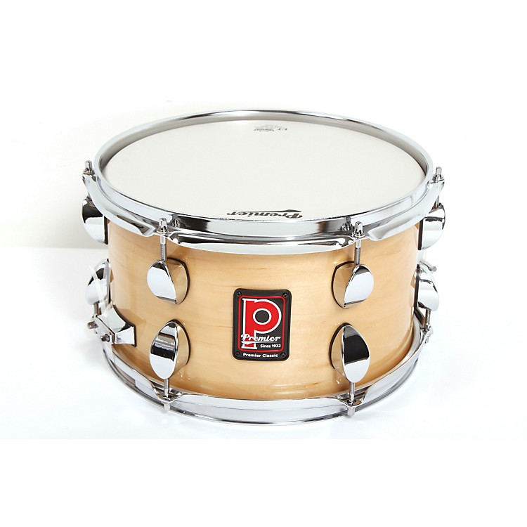 Premier Classic Maple Snare Drum Natural Lacquer 12x7