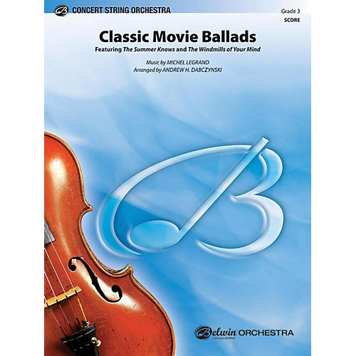 Alfred Classic Movie Ballads String Orchestra Grade 3-thumbnail