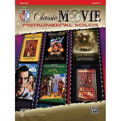 Alfred Classic Movie Instrumental Solos French Horn Play Along Book/CD