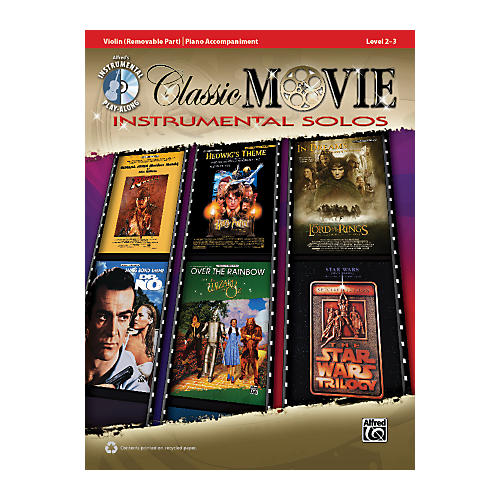 Alfred Classic Movie Instrumental Solos for Strings Violin Play Along Book/CD-thumbnail