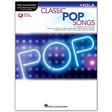 Hal Leonard Classic Pop Songs For Viola - Instrumental Play-Along Book/Audio Online