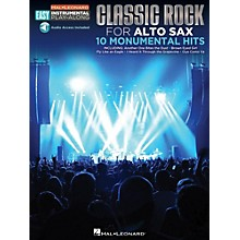 Hal Leonard Classic Rock - Alto Sax - Easy Instrumental Play-Along Book with Online Audio Tracks