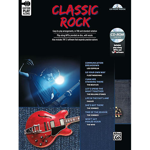 Alfred Classic Rock Guitar Play-Along Guitar TAB Book & CD-ROM Songbook-thumbnail