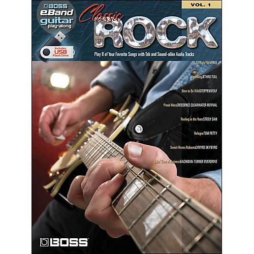 Hal Leonard Classic Rock Guitar Play-Along Volume 1 (Boss eBand Custom Book with USB Stick)