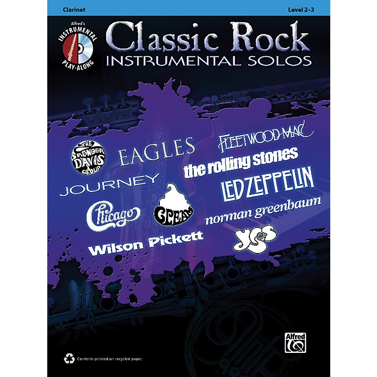 AlfredClassic Rock Instrumental Solos Clarinet Book & CD