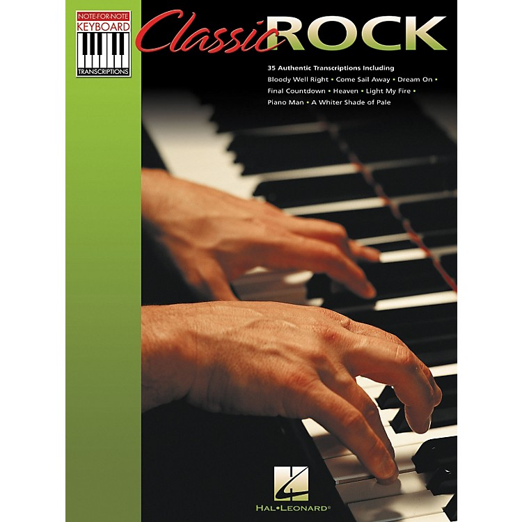 Hal Leonard Classic Rock Note for Note Keyboard Songbook