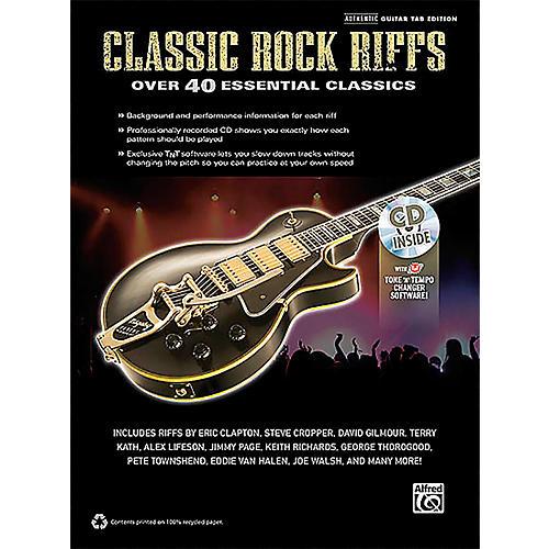 Hal Leonard Classic Rock Riffs Guitar Book & CD