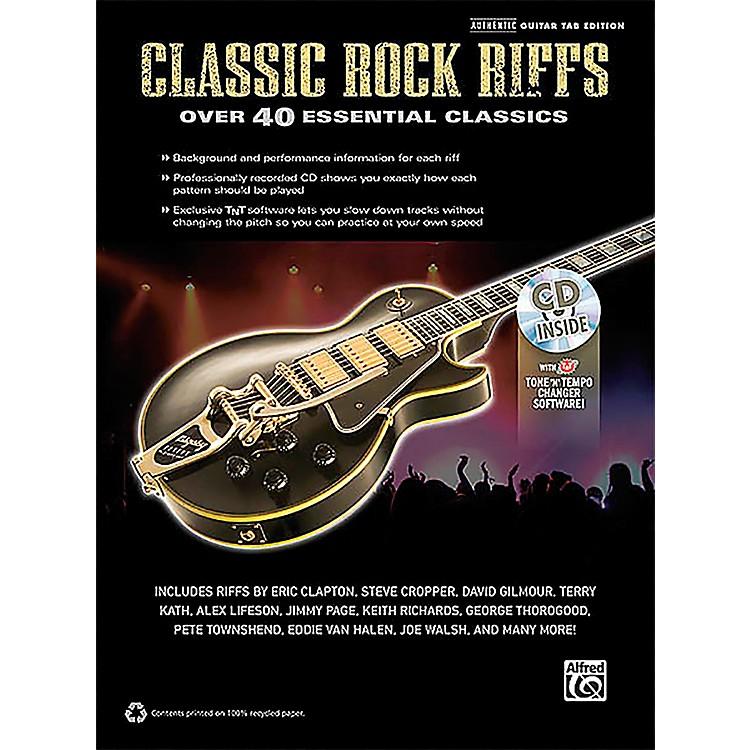 Hal LeonardClassic Rock Riffs Guitar Book & CD