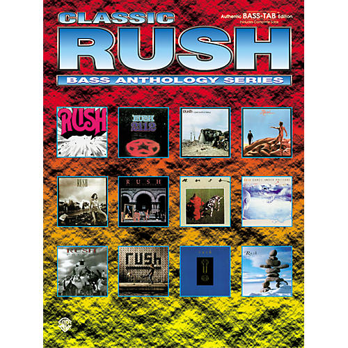 Alfred Classic Rush Anthology Series Bass Tab Book