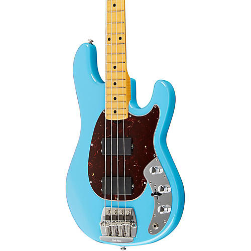 Music Man Classic Sabre Electric Bass Diego Blue Maple Flame Neck