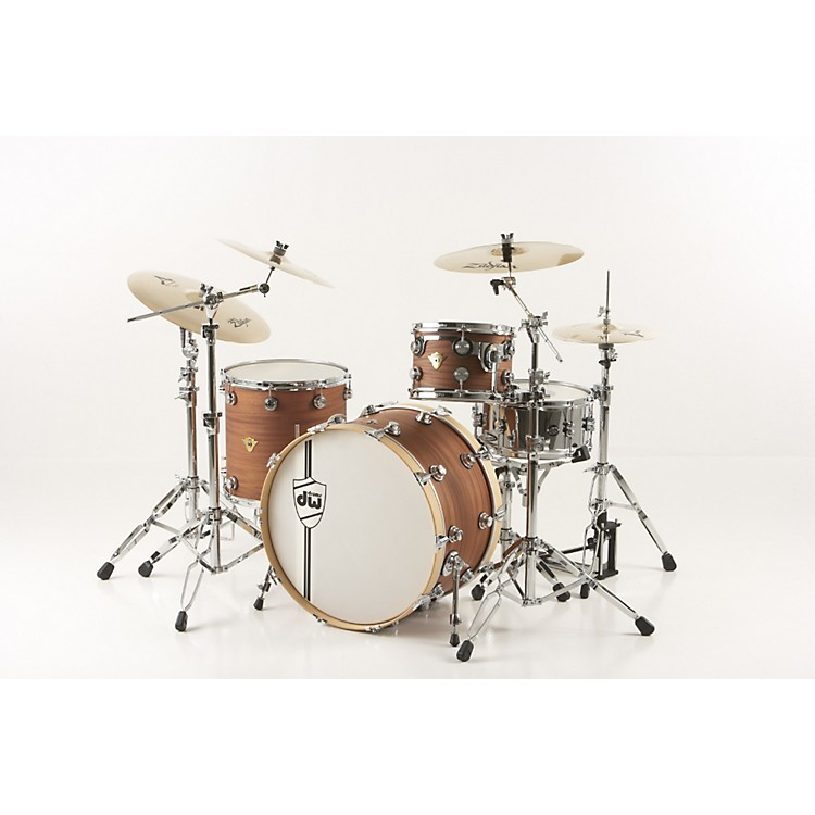 DW Classic Series 3-Piece Shell Pack Natural Mahogany with Chrome Hardware Natural Chrome Hardware