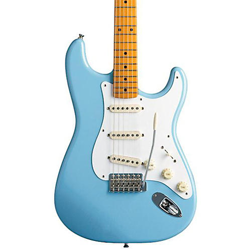 Fender Classic Series '50s Stratocaster Electric Guitar Daphne Blue Maple Fretboard