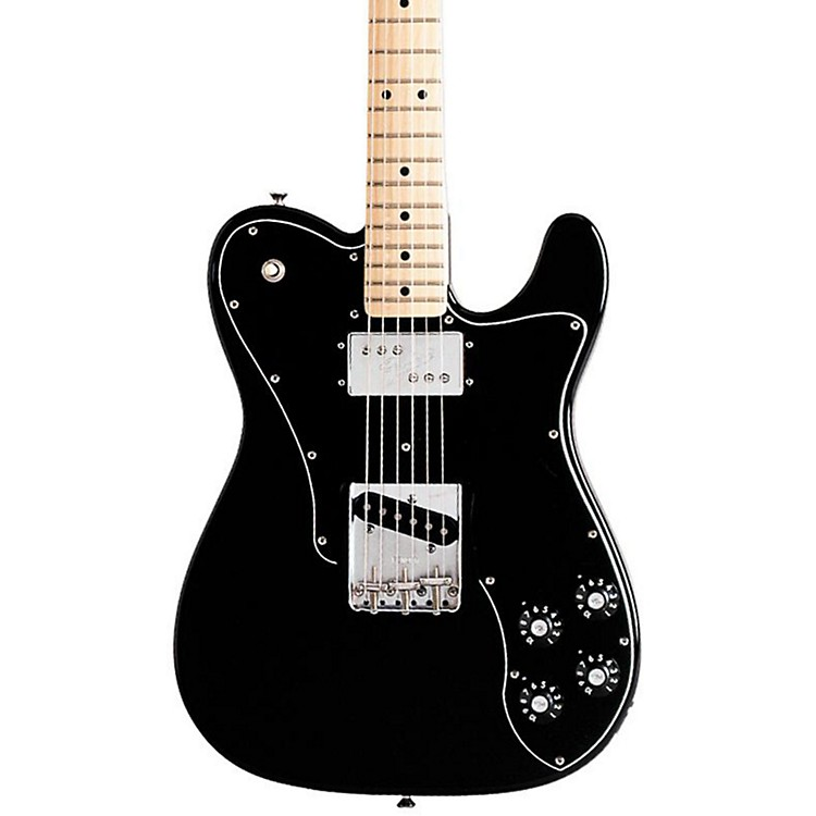 Fender Classic Series '72 Telecaster Custom Electric Guitar Black Maple Fretboard