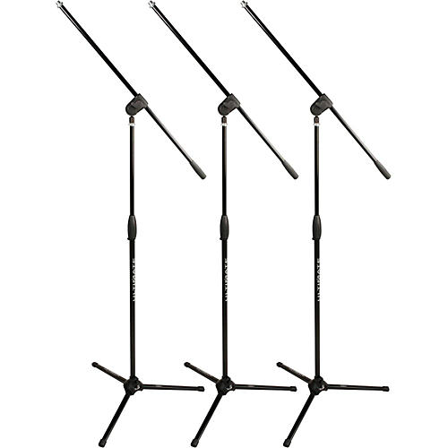 Ultimate Support Classic Series MC-40B Microphone Stand - 3-Pack Black