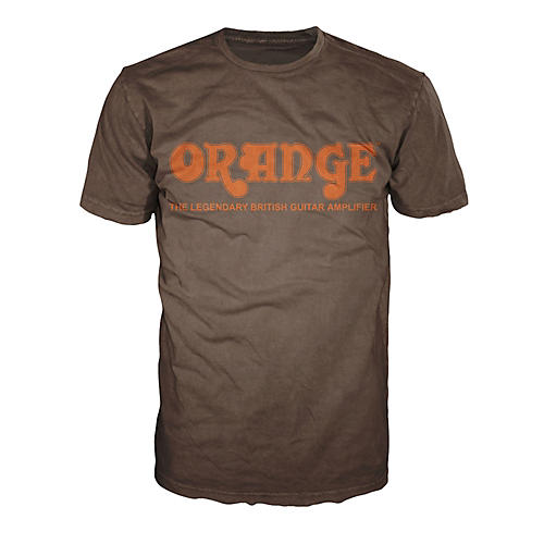 Orange Amplifiers Classic T-Shirt Brown Large