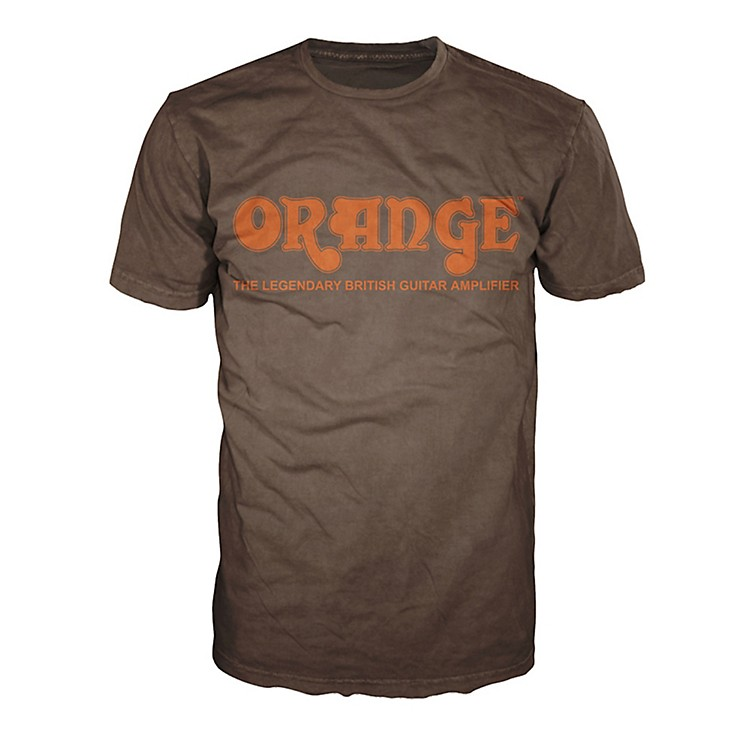 Orange Amplifiers Classic T-Shirt Brown Small