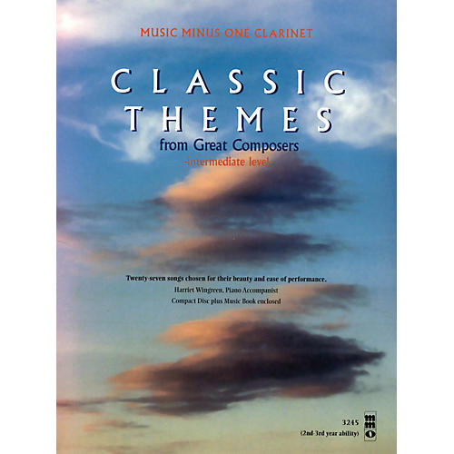 Music Minus One Classic Themes from Great Composers (Beginning Level) Music Minus One Series BK/CD-thumbnail