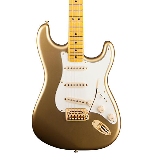 Squier Classic Vibe 60th Anniversary Stratocaster Electric Guitar Aztec Gold Maple Fingerboard